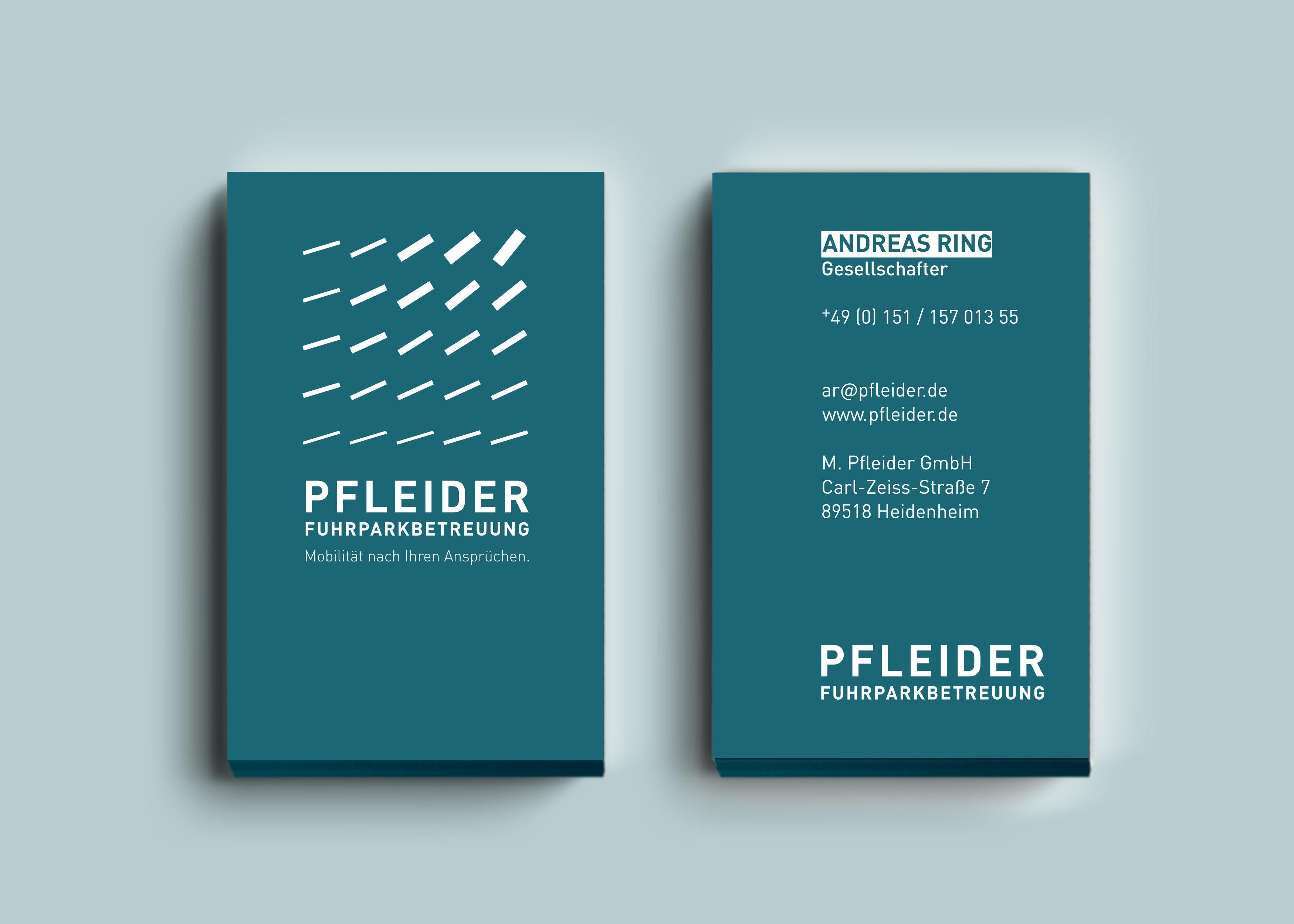 Pfleider_Geschäftsausstattung_Visitenkarten