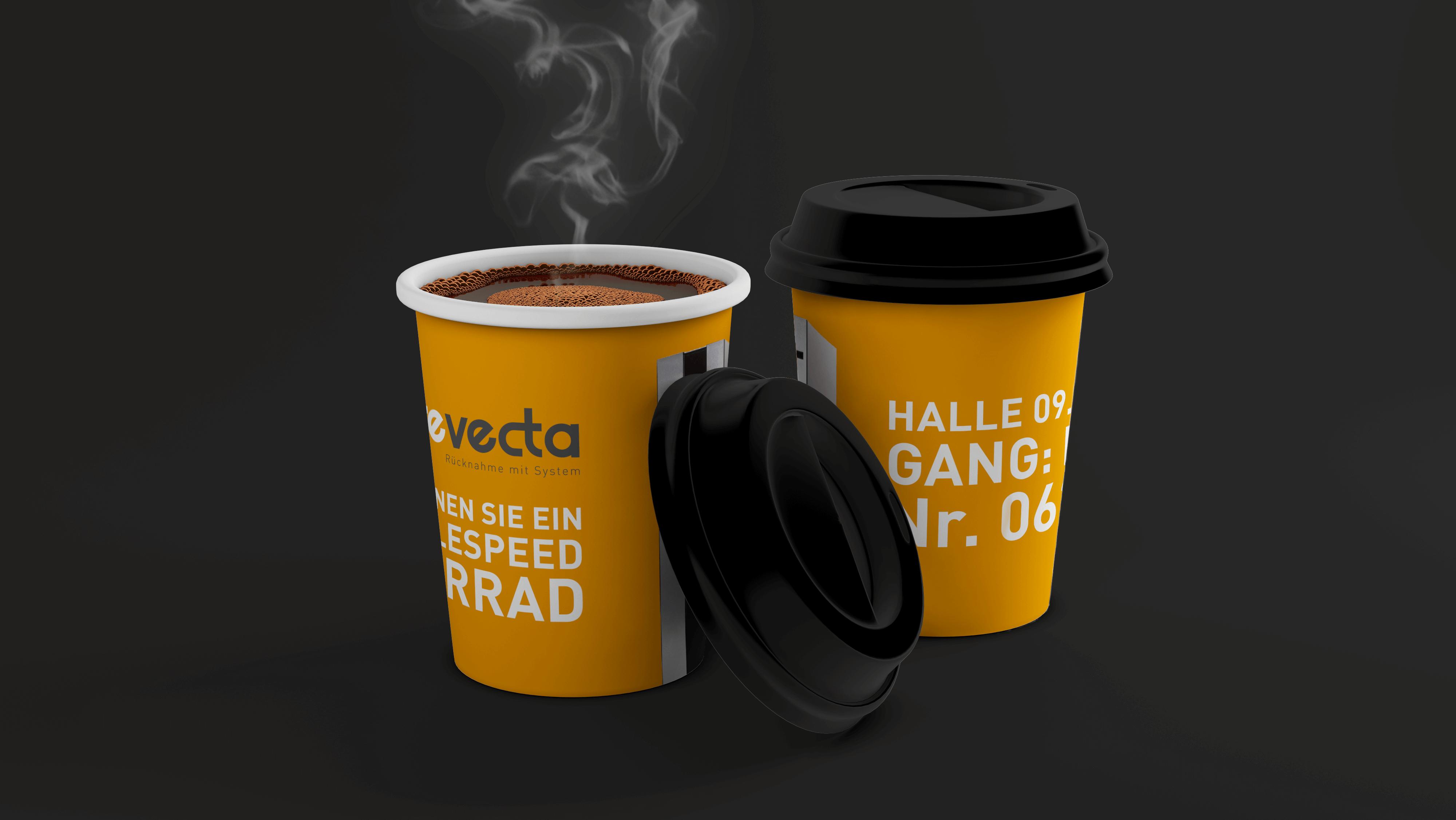 revecta recycling Kaffebecher Pappe