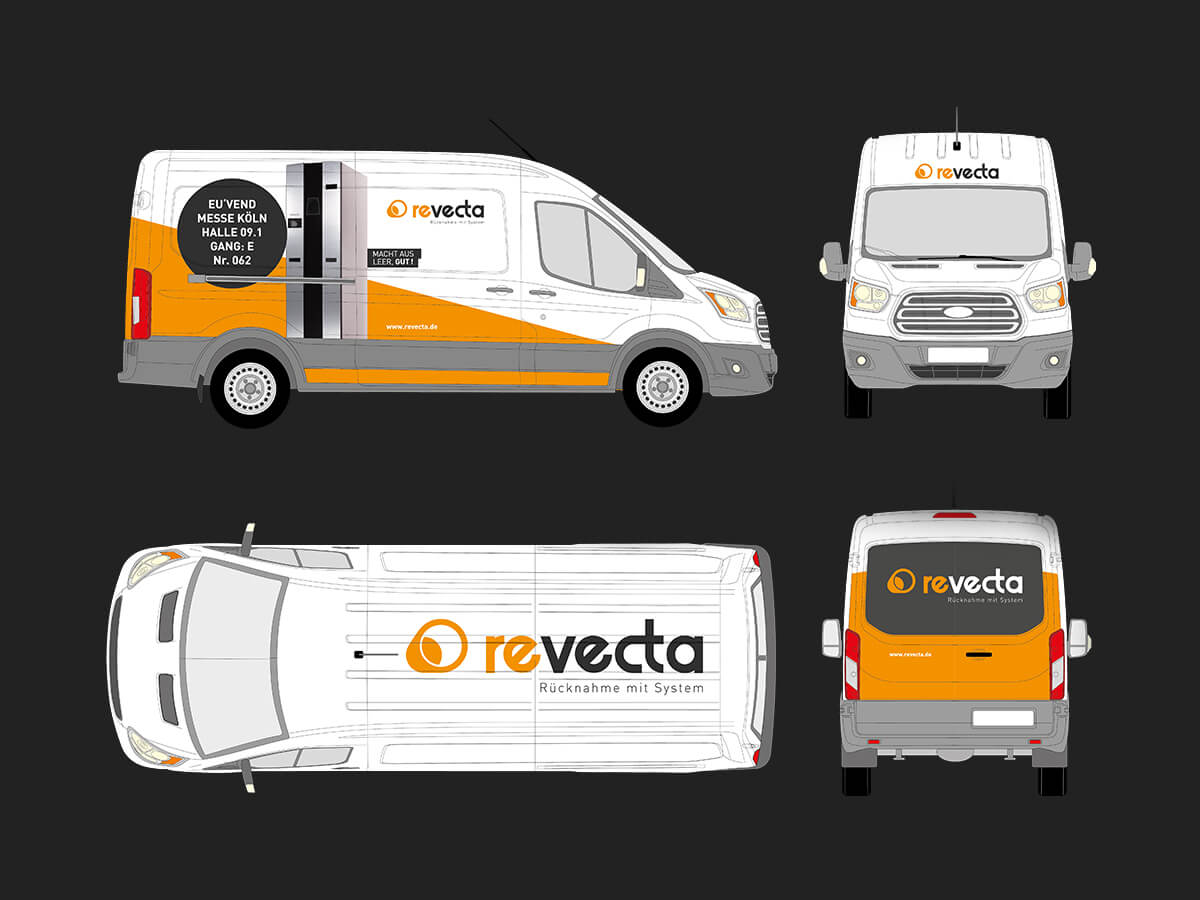 revecta Bus Beklebung Konzeption