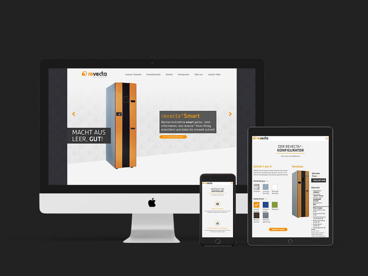 revecta Website responsive Design